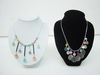 Wholesale White Necklace Bust - 2 pieces bust. Jewelry Necklace Display Stand