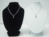 Wholesale Display Bust White - 2 PCS Big bust Jewelry Necklace Display Stand SZ:11*7 1 2 Inch