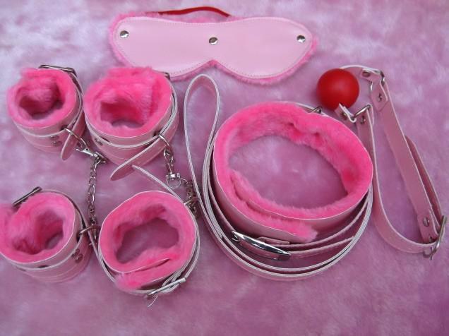 Sexo juguete couplel. Productos adultos.: esposas + planchas + collares + ojo + boca rellena