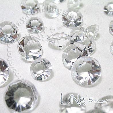 Spedizione gratuita 4 carati 10mm cristallo bianco diamante confetti bomboniera tavolo dispersione