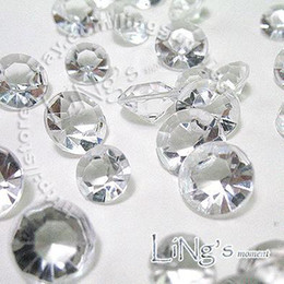 Wholesale Diamond Scatters - Free Shipping 500pcs 4Carat 10mm Crystal White diamond confetti wedding favor table scatter