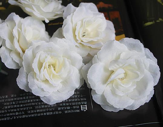 Billiga blomma huvuden silke konstgjorda blomma blommor singel peony rosa bröllop jul diy dekoration 7cm