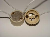 Wholesale Socket Ceramic - GU10 Socket Led Light Lamp GU10 Base Bulb Ceramic Wire Connector Socket Adapter Button Fixture Plug