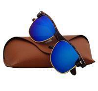 Wholesale glasses half frame cat eye online - High Quality Sunglasses Half Frame Men Women Brand Designer Sun Glasses Big Frame Glass Lens with Box and Cases gafas de sol oculos