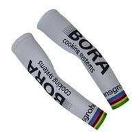 Wholesale Uv Arm Sleeve Xxl - 2017 BORA PRO TEAM Cycling ARM Warmers Sleeve Spandex Coolmax Lycra UV Protection Size:S-XXL