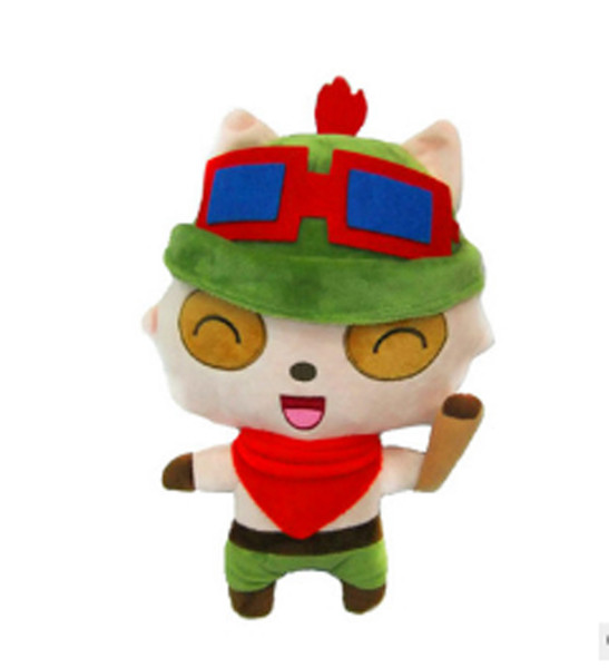 30cm LOL Plush children's toys teemo Cute cartoon doll teemo Cute cartoon Plush Toys accompany chlidren free shipping