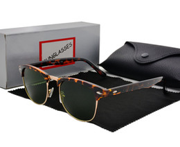 aluminum metal boxes Promo Codes - new arrival vintage sunglasses women Metal frame sun glasses men sun glasses brand designer oculos glasses men with Retail box and case