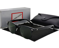 óculos de sombreamento venda por atacado-Marca Designer Moda Mulheres Homens Óculos De Sol Unisex Semi-Rimless Sun óculos óculos de sombra Lente 6 Cor Com casos de Varejo e caixa