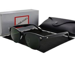 China Fashion Women Men luxury Sunglasses Unisex Semi-Rimless Sun glasses Brand Designer shade eyeglasses Lens 6 Color With cases and box cheap sunglasses suppliers