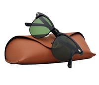 eyewear scharniert groihandel-Hochwertige Markendesigner Sonnenbrille Männer Metall Scharnier Sonnenbrille Frauen Brillen Sonnenbrille Zum Verkauf UV400 Unisex Mit Kleinkasten und Fall