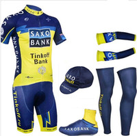 Wholesale Banks Suits - S-4XL 5 Pieces   lot Cycling Jersey suit team Tinkoff saxo bank cycling clothing bike shorts set MTB maillot ciclismo Bicycle shorts suit