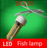 Wholesale Cool Fishing Lures - Free shipping 12V battery with raft fishing lure fish diving lighting LED highlight the night fishing lamp warm white waterproof