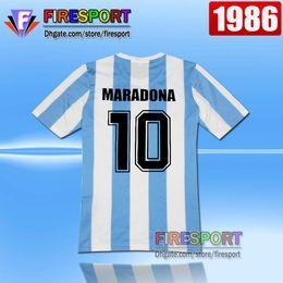 78d63028476 Retro Version tops 1986 World Cup Argentina national team home Soccer  jerseys 10 Messi Maradona AAA+