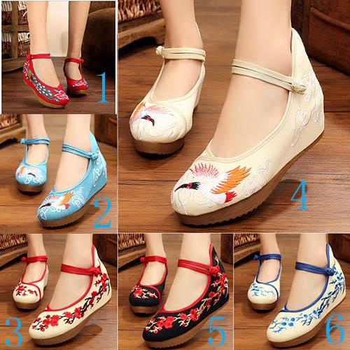 Wholesaler Factory Price Hot Seller Wedge Heel China Style High Heel Women  Round Nose Dress Wedding Bride Embroidered Shoe 175 Online Clothes Shopping  ... 4b63d79d885c