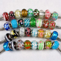 Wholesale Tibetan Silver Drop Beads - 250pcs double core glass silver p beads and 250pcs tibetan charms Drop shipping
