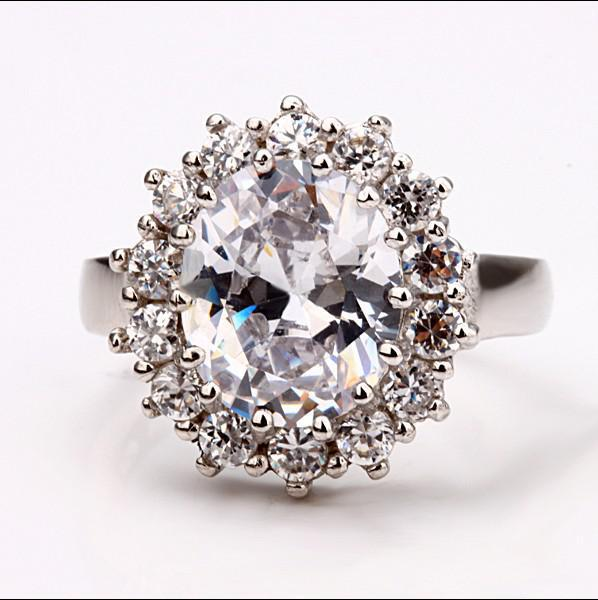 Top qualité 18K or incrusté zircon Princesse Bagues de Fiançailles mode bijoux cadeau livraison gratuite /