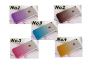 Popular 3D TPU Soft Glitter Cover Case Gradual Change Color Com capas de telefone Hang rope para iPhone 5S 6 6S 6Plus 7 7plus
