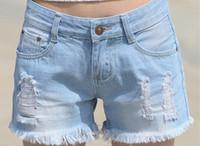 Womens Distressed Denim Shorts Online Wholesale Distributors ...