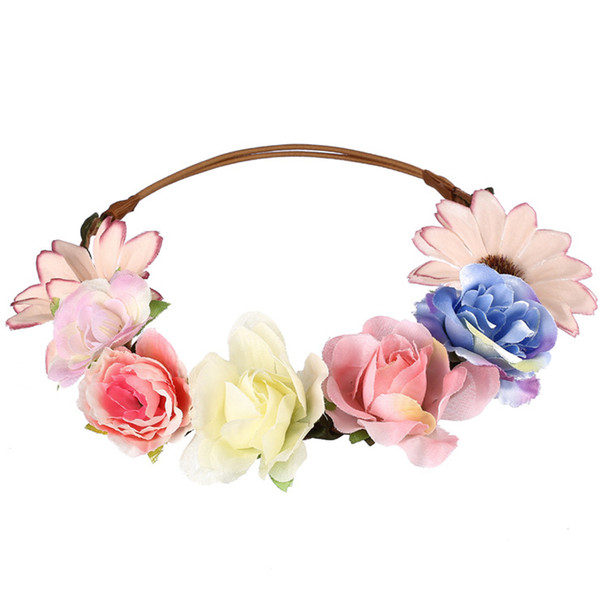 10pcs/lot Women Headwear Rose And Daisy Flower Hairbands Hair Accessories For Bride Wedding Headdress