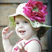 Wholesale Summer Baby Girl Sunhat - Hot selling Brand new kids caps children's sun caps sun hats,sunhats jamie rae hats with flower for baby girls