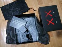 Wholesale Grey Silk Bag - KAWS 4s Top Quality Retro 4 Low Cool Grey Suede Cement Black Gray Wholesale Basketball Shoes Men size With Box Bag Card
