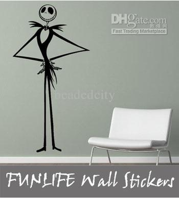 Funlife Modern Jack Nightmare Before Christmas Wall Decal Decimator Holiday  Deco Wall Stickers Love Wall Stickers Murals From Beadedcity, $12.1|  Dhgate.Com Part 21