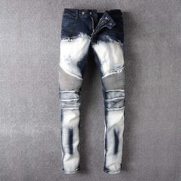 Wholesale 29 Jeans For Men - robin jeans for men Straight Denim Jeans Trousers Plus Size 29-42 High Quality Cotton Logo Brand orange button Mens robins jeans