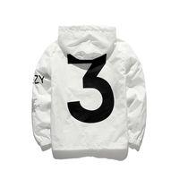 Wholesale Designer Clothing Woman - Designer brand Jacket Mens KANYE Hip Hop black white Windbreaker Jackets Men Women Streetwear Fashion Outdoor uniform coat men clothing