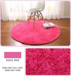 Wholesale Solid General Thick Round Carpet Bedroom Living Room Coffee Table Basket Tatami Mat Yoga Mats Cushion Computer