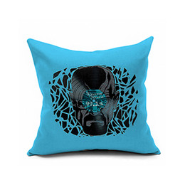 Wholesale Turquoise Purple Decorations - Turquoise characters printed decoration hold pillow pillowcase flax cushion for leaning on black pink orange white yellow   40 * 40,45,50,55