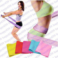 Wholesale pilates resistance bands purple - yoga Pilates Stretch Resistance Band Exercise Fitness Training yoga tension belt Elastic Stretch Band 1200MM