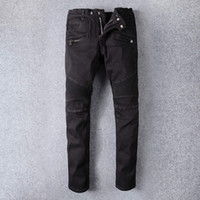 Wholesale Corduroy Jeans - Famous Brand Denim Men robin Jeans ripped robin jeans for men corduroy mens fake designer clothes fashion streewear baggy black jeans
