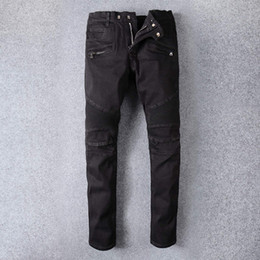 Wholesale Baggy Jeans Fashion Men - Famous Brand Denim Men robin Jeans ripped robin jeans for men corduroy mens fake designer clothes fashion streewear baggy black jeans