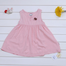 Wholesale Wide Skirts - Summer new girl beautiful super cents flower color petal hem Wide shoulder sleeveless dress skirt NO.4