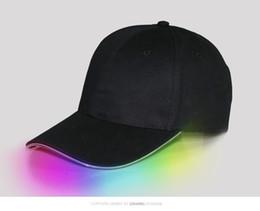 Wholesale led cotton balls - New Led Luminous Party Baseball Hats Women Men Hockey Snapback Basketball Ball Cap