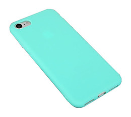 Canada Bonbons couleur TPU solide couleur cas de téléphone pour Apple iphone 7 / 5S / 6plus Silicone Coquille givrée Couverture souple de téléphone Soft Design Slim Offre