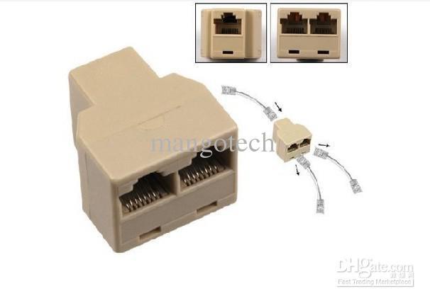 Network Cable Splitter : Rj lan splitter combiner to way connector adaptor