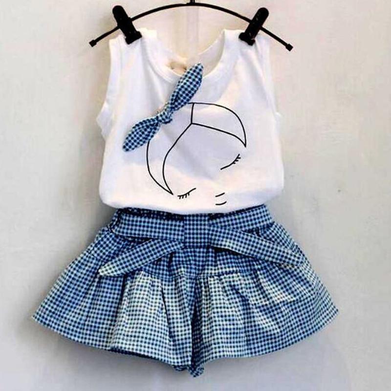 Satın Al Bebek Kız Giysileri Setleri Moda Butik çocuk Yay Boyama
