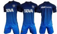 Wholesale Sports Wear Shorts - 2017 2018 Boca Juniors soccer uniforms men's short sleeve thai quality soccer jerseys Boca blue football wear soccer kit sport sets