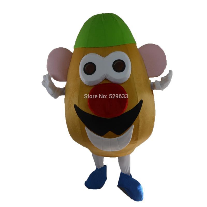 2017 new mr potato head cartoon christmas halloween mascot costume masquerade costume free postage halloween mascot costumes cheap lion mascot costume sale
