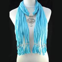 Wholesale Cheap Wholesale Pashmina - Quality design women scarf jewelry costume scarf wholesale - 2013 fashion cheap jewellery necklace scarf scarves pashmina 3pcs lot NL-1495B