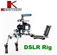 Wondlan DSLR Rig Kit <b>15mm Rail Rod Support System</b> Folgen Focus C Halterung Griff Für HDV Video Kamera Canon 5D Mark II III 550D 7D Nikon D90