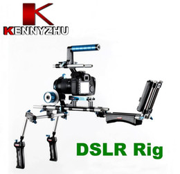 Wholesale 15mm Rod Rig Handles - Wondlan DSLR Rig Kit 15mm Rail Rod Support System Follow Focus C Bracket Handle For HDV Video Camera Canon 5D Mark II III 550D 7D Nikon D90