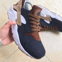 Wholesale Id Shoes - 2017 Huarache ID Custom Breathe Running Shoes For Men Women,Woman Mens navy blue tan Air Huaraches Multicolor Sneakers Athletic Trainers