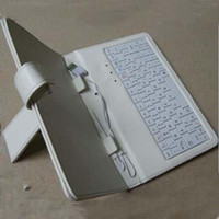Wholesale purple tablet pc online - 7 inch Tablet PC Laptop Keyboard extend keyboard keypad case christmas
