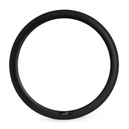 Wholesale Customized Rims - High TG Resin Clincher with Tubeless Carbon Rims 700C Bicycle Wheels 50mm Depth 23mm Width Customized Free Shipping OEM