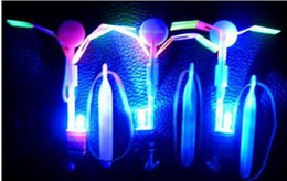 Wholesale Graduation Toys - Crazy Toy LED Arrow Helicopter Boomerang Frisbee flashing light Flying toy