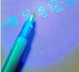 uv magic pen Rabatt Magic Invisible Private Pen UV Stift UV Licht Combo Geheime Nachricht Währung Checker unsichtbaren Stift