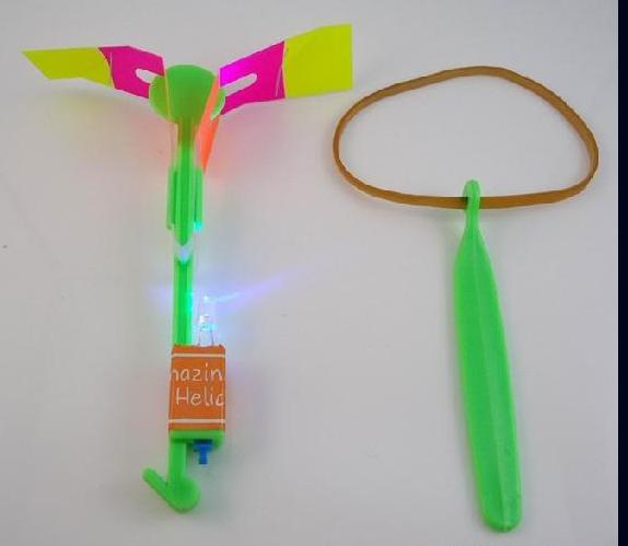 LED LIGHT UP SPACE FLYING ARROW HELICOPTER TOY