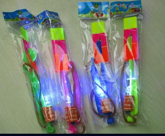 Crazy Toy LED Arrow Helicopter Boomerang Frisbee flashing light Flying toy